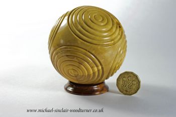 Boxwood 'Neolithic Petrosphere' inspired piece.