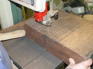Cuttin block square creating bowl blank and pinch bowl blank